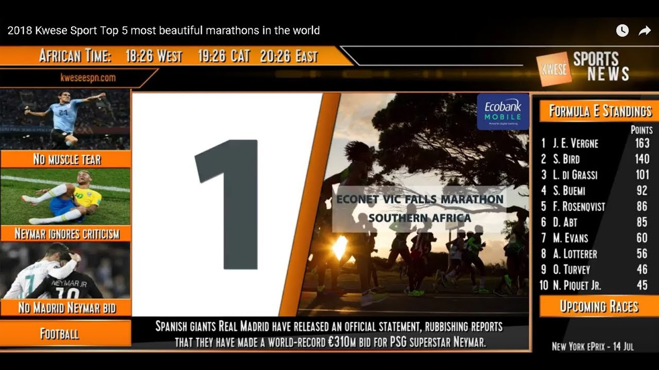 Download 2018 Kwese Sport   Top 5 most beautiful marathons in the world