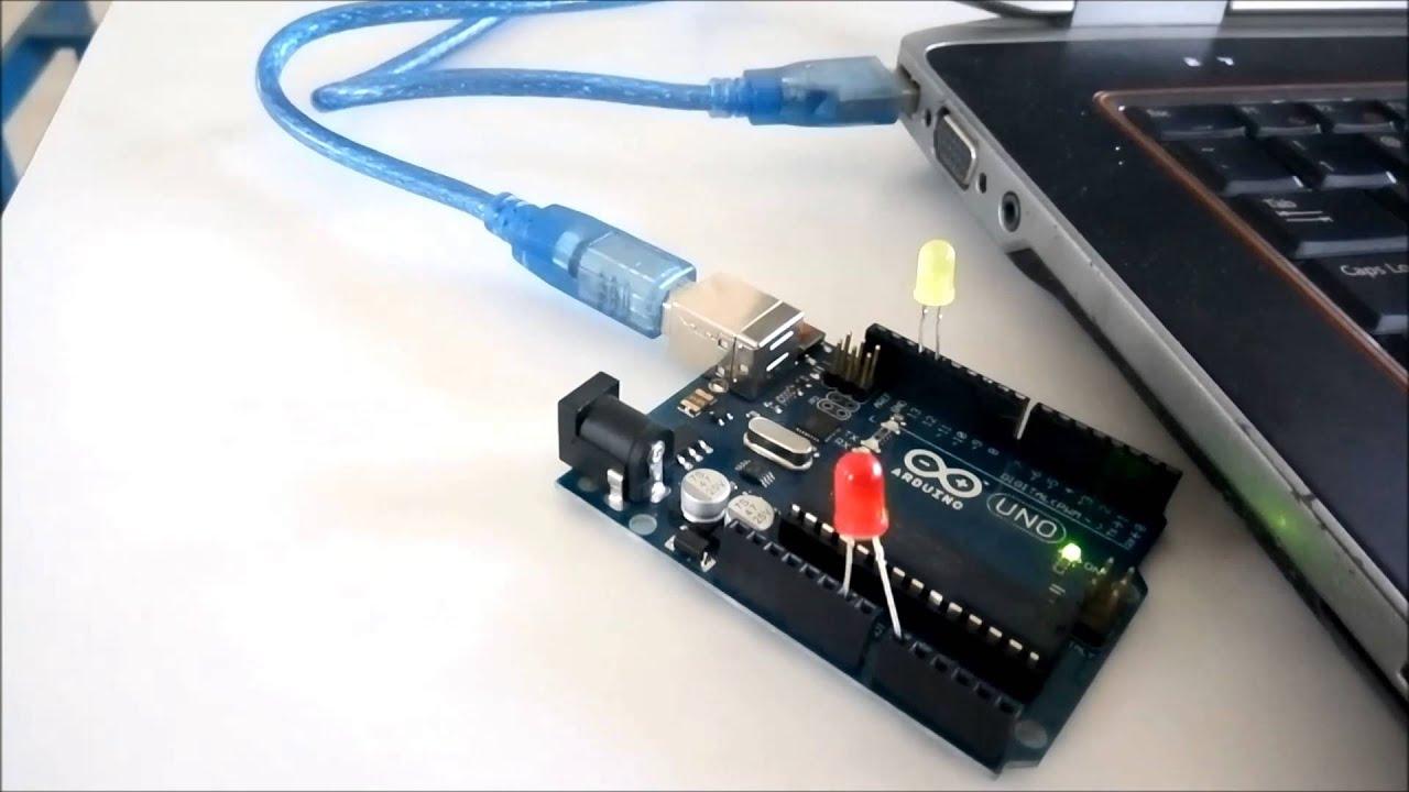 Tutorial menyalakan lampu led dengan arduino dan visual