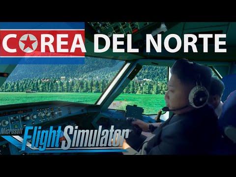 Microsoft FLIGHT SIMULATOR 2020 ✈️| Viajamos de Corea del Norte a Corea del Sur