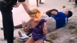 Арест пьяных на пляже