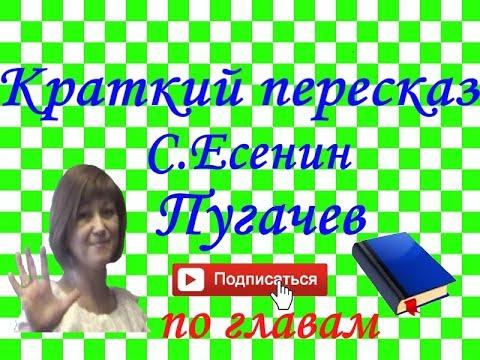 """Краткий пересказ С.Есенин """"Пугачёв"""""""