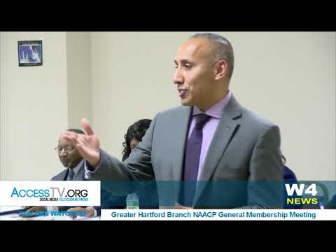 W4 News - NAACP Talks with the Mayor's nominee for Hartford Police Chief - 11/14/2017