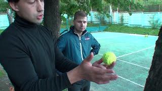 Теннис. Учебное видео. Удар справа. Часть 6.