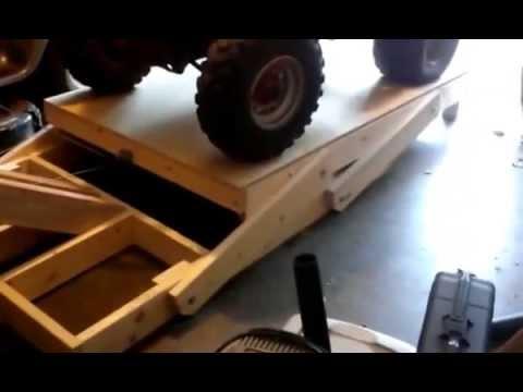 Homemade ATV lift