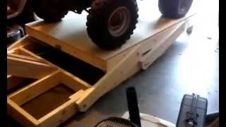 Homemade ATV lift