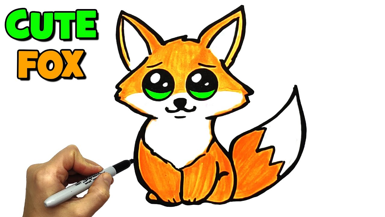 How To Draw A Cute Fox In Kawaii Style Very Easy Drawing And