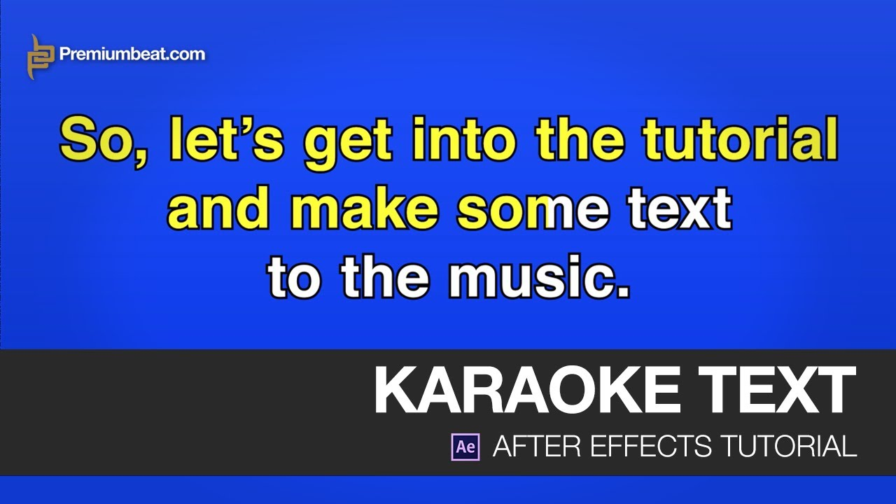 Download After Effects Video Tutorial: Karaoke Text