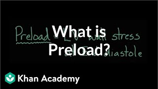 What is preload? | Circulatory system physiology | NCLEX-RN | Khan Academy