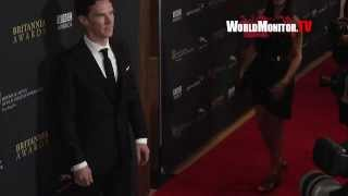 Benedict Cumberbatch arrives at 2013 BAFTA LA Britannia Awards Red Carpet