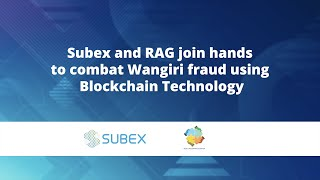 Subex and RAG join hands to combat Wangiri fraud using Blockchain Technology