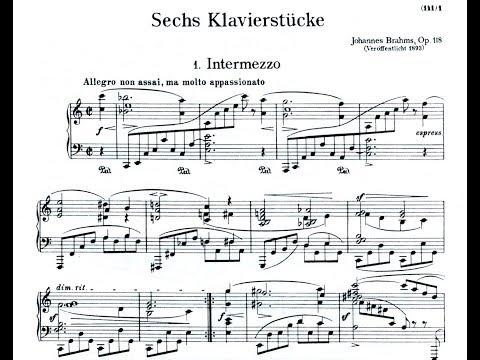 Johannes Brahms op 118 6 Klavierstücke