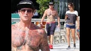 Michael Douglas' Son Cameron Shows Off His Muscular Chest As he goes with pregnant girlfriend