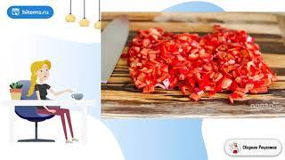 Салат с макаронами овощами и сыром Рецепт готовить