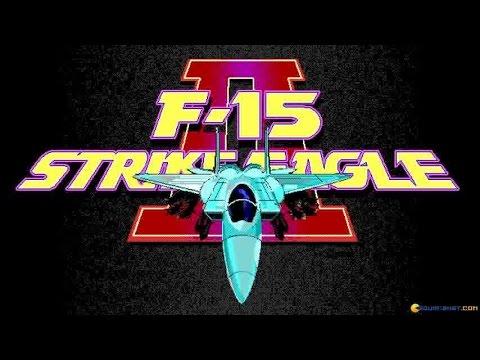 F-15 Strike Eagle II gameplay (PC Game, 1989)