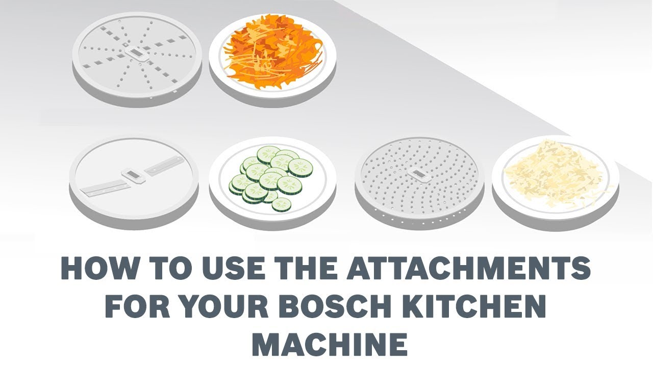 How To Use The Attachments For Your Bosch Kitchen Machine Youtube