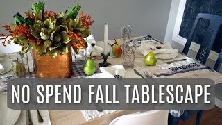 My No Spend Fall Tablescape and Dining Room Decor