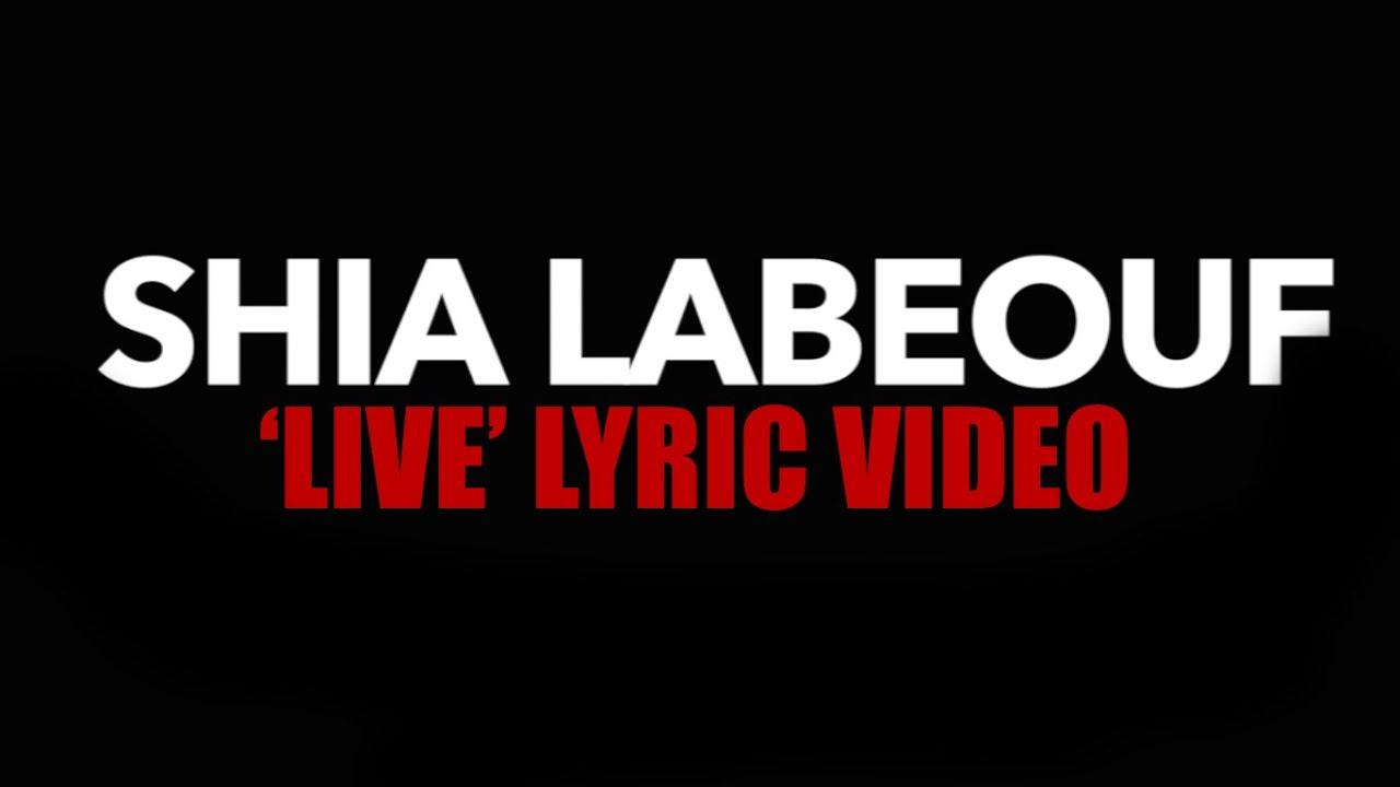 """Shia LaBeouf"" Live - Rob Cantor (Lyric Video) - YouTube"