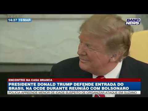 Bolsonaro e Trump se encontram na Casa Branca
