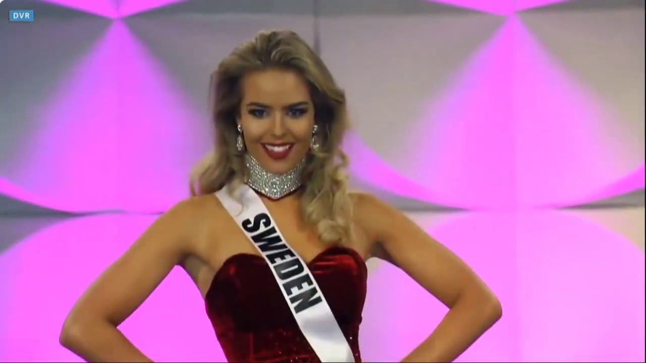 Miss Universe Sweden 2019 - Evening Gown - YouTube