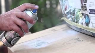 Maston spraymaalilla auton korjausmaalaus