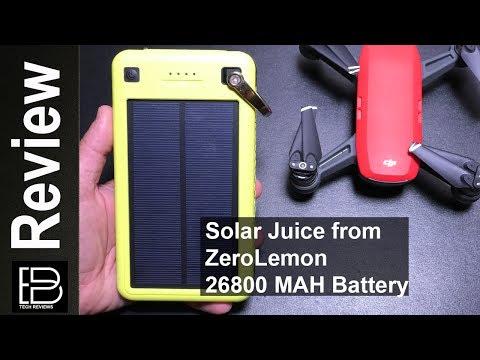 ZeroLemon Solar Juice 26800 MAH Solar Battery for the DJI Spark, iPhone, iPad, S8, G^
