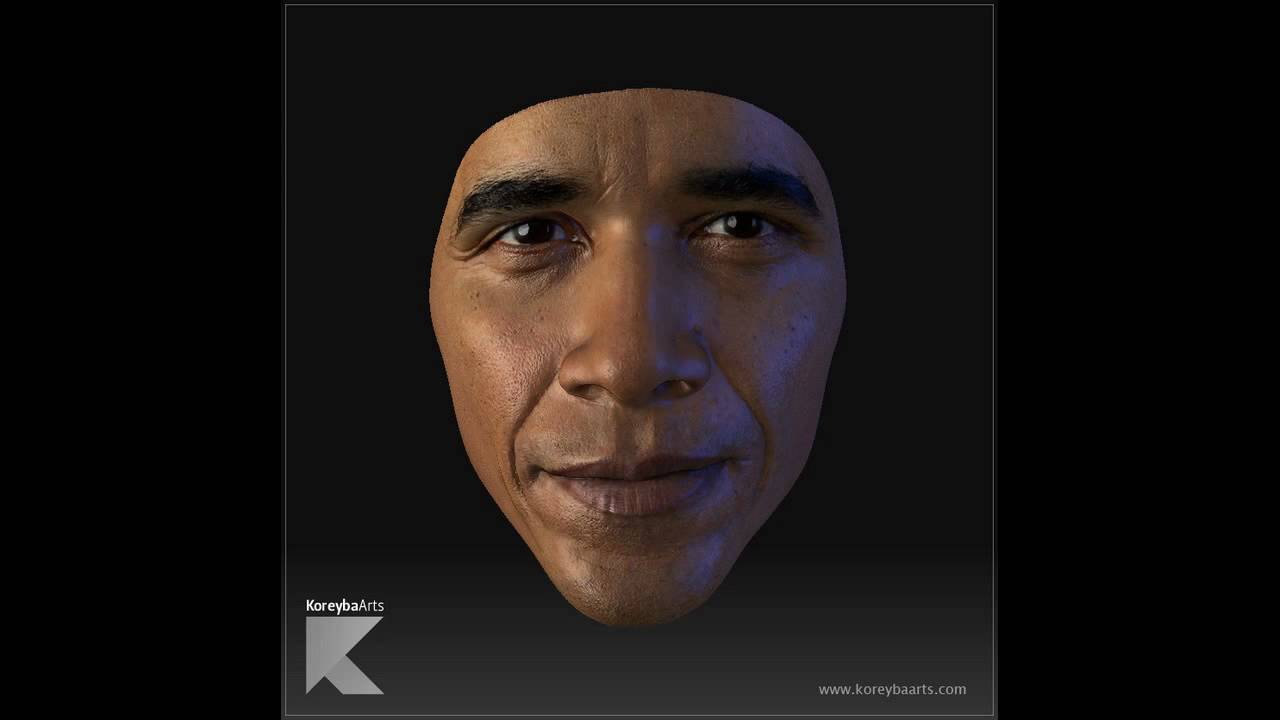 Wallpaper Skull 3d Barack Obama Cg 3d Model Head Mask Face Zbrush Youtube