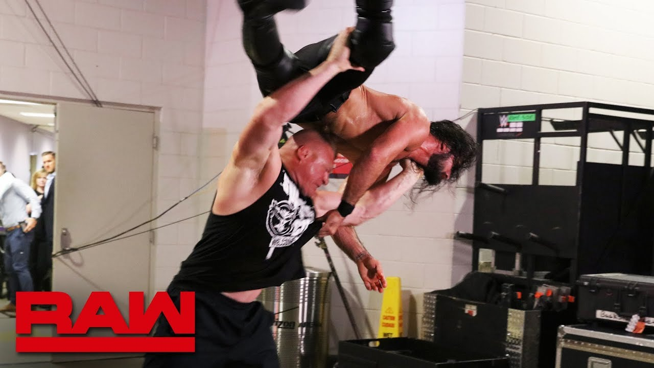 Brock Lesnar pummels an injured Seth Rollins: Raw, July 29, 2019