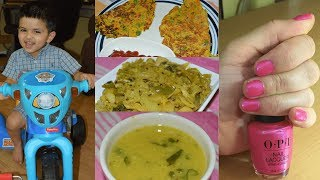 #Vlog: Failed Weekend Plans | Cooking At Home- Besan Chila, Cabbage Subzi | Real Homemaking