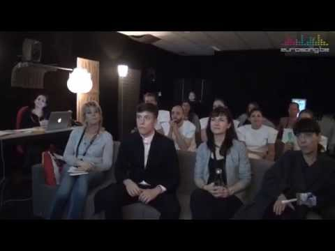 Eurovision 2015 behind the scenes - Loïc Nottet in the Viewing Room (Belgium)
