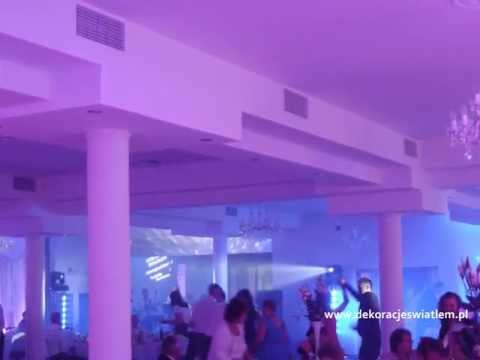 Pierwszy Taniec, dekoracje weselne światłem sal weselnych