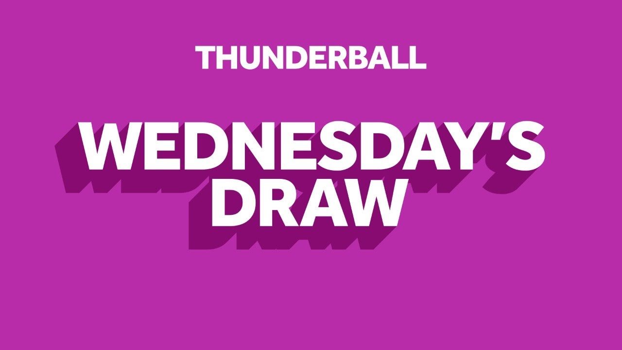 The National Lottery 'Thunderball' draw results from Wednesday 12th August 2020