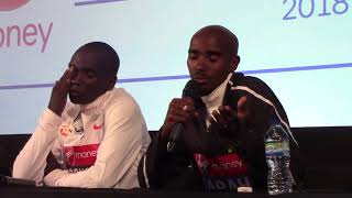Mo Farah & Eliud Kipchoge discuss their futures in the marathon