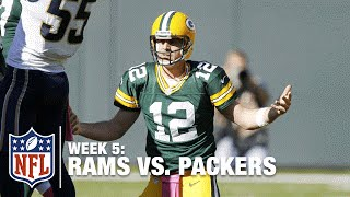 Aaron Rodgers Picked Off TWICE at Lambeau Field! | Rams vs. Packers | NFL