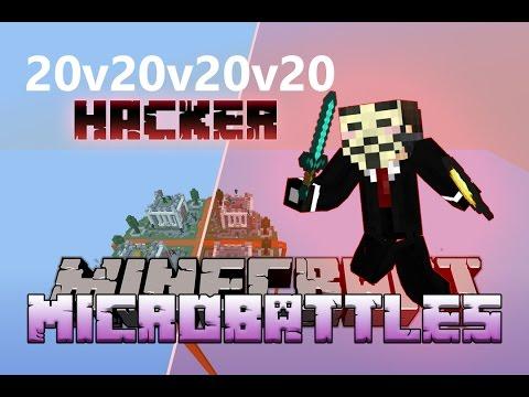 """""""20v20v20v20 HACKER!""""  Minecraft MICRO BATTLES #33 w/LandonMC"""