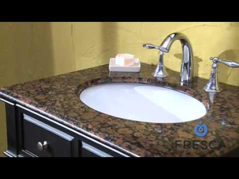 Bathroom Sinks On Top Of Vanity bathroom vanity single sinkfresca fvn6540 with dark wood and
