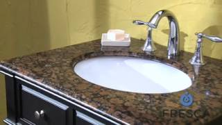 Bathroom Vanity Single Sink By Fresca Fvn6540 With Dark Wood And Countertop