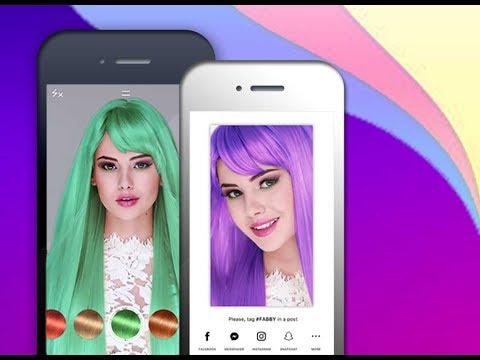 Changer couleur de cheveux appli