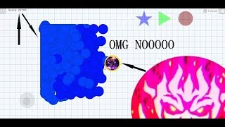 Agario NEW SKINS Best Moments Troll Double Bait Cannon in Agar.io