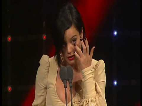 Tears for Lily Allen - 55th Ivor Novello Awards 2010