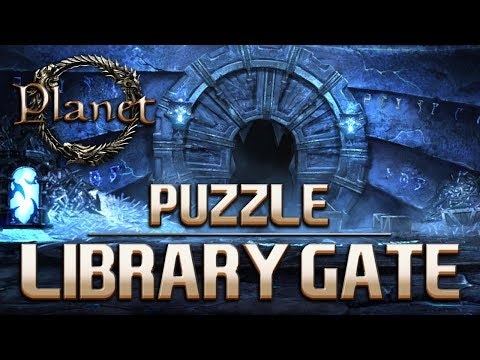 Elder Scrolls Online - How to Open Library Gate Puzzle (Cross The Dark Chamber)