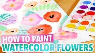 How to Paint Watercolor Flowers - Easy Art Project - HGTV Handmade