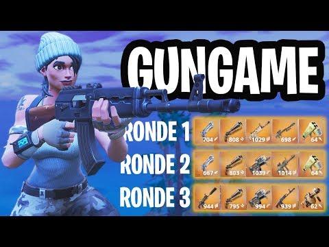 LEGENDARY GUNGAME 1v1v1v1 MINI-GAME!  - Fortnite: Battle Royale Playground (Nederlands)
