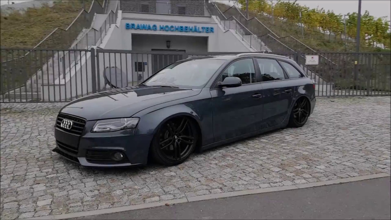 Bagged Audi A4 B8 Wnbrg 196 Ng Peppergrounds R3 Wheels