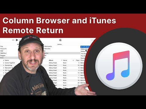 Column Browser And ITunes Remote Return To MacOS