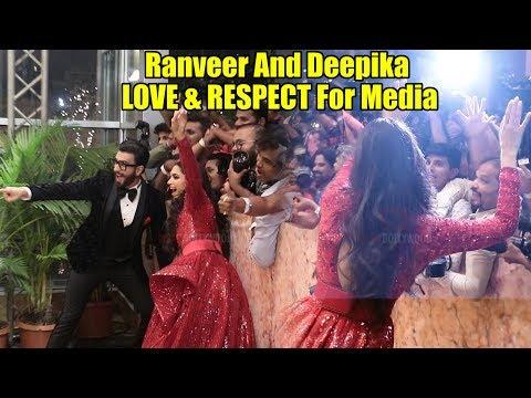 Ranveer And Deepika LOVE & RESPECT For Media | #DeepVeer Wedding Reception #Simmba