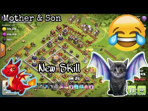 Mother and Son😂And Balloon Impossible Skill Destroy Farming Ring Base Th11 max level