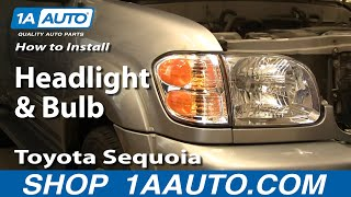 How To Install Replace Headlight and Bulb Toyota Sequoia 01-04 1AAuto.com