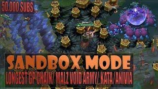 LONGEST GANGPLANK CHAIN/ MALZAHAR VOID ARMY/ KATA/ ANIVIA - Practice Sandbox Mode Gameplay