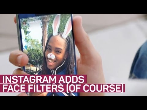 Instagram adds face filters because of course (CNET News)