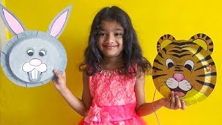 10 Amazing Paper Plate MASK'S for KIDS | ART for KIDS | How to Make Simple Masks for Kids